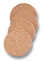 Natural Cork Coasters Set of 4